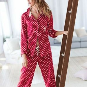 Victoria's Secret Pink Polka Dots PJ Pants Size S